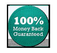 Money Back Guarantee 100% - Circle Badge Turquoise